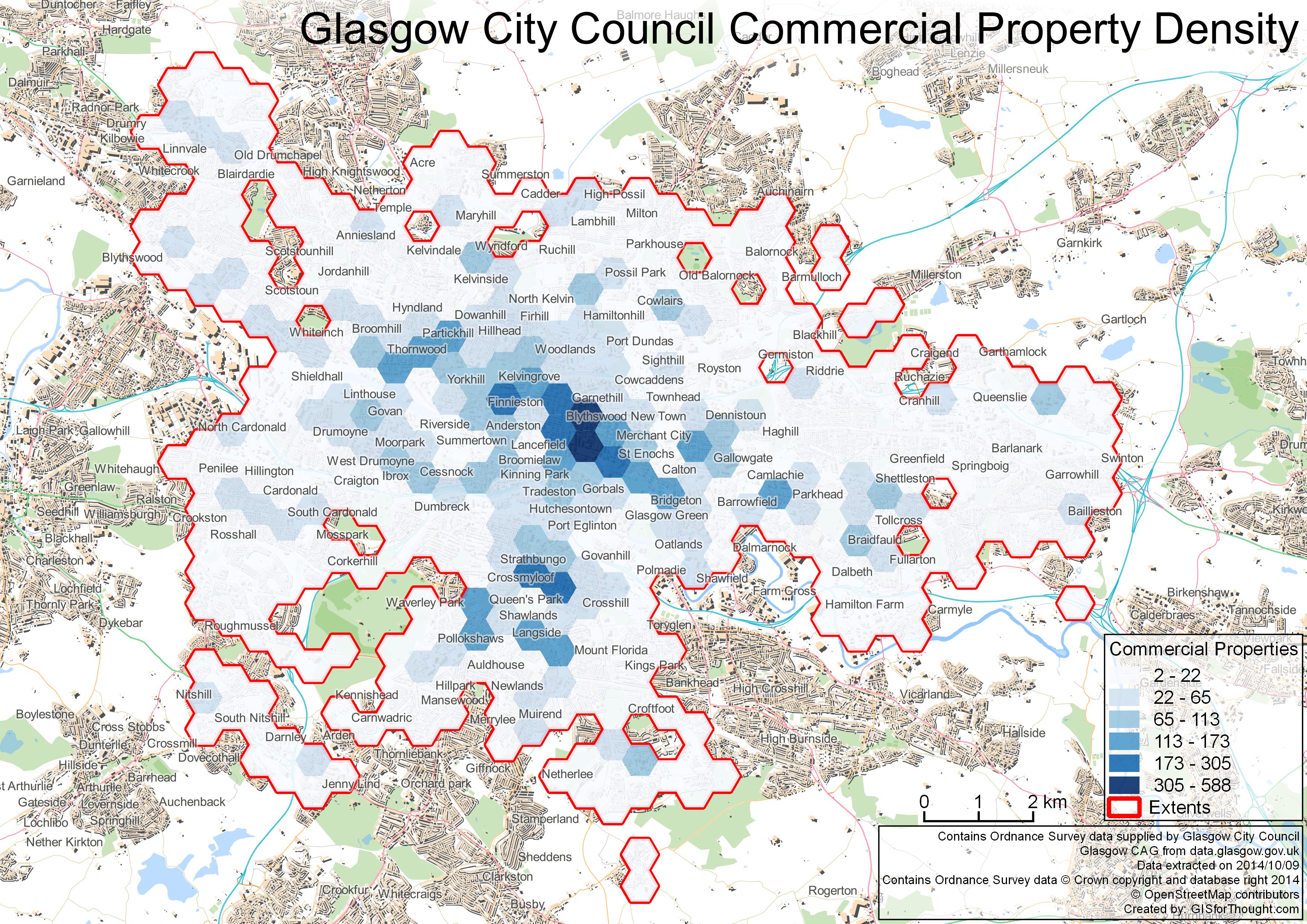 Glasgow Commercial Density