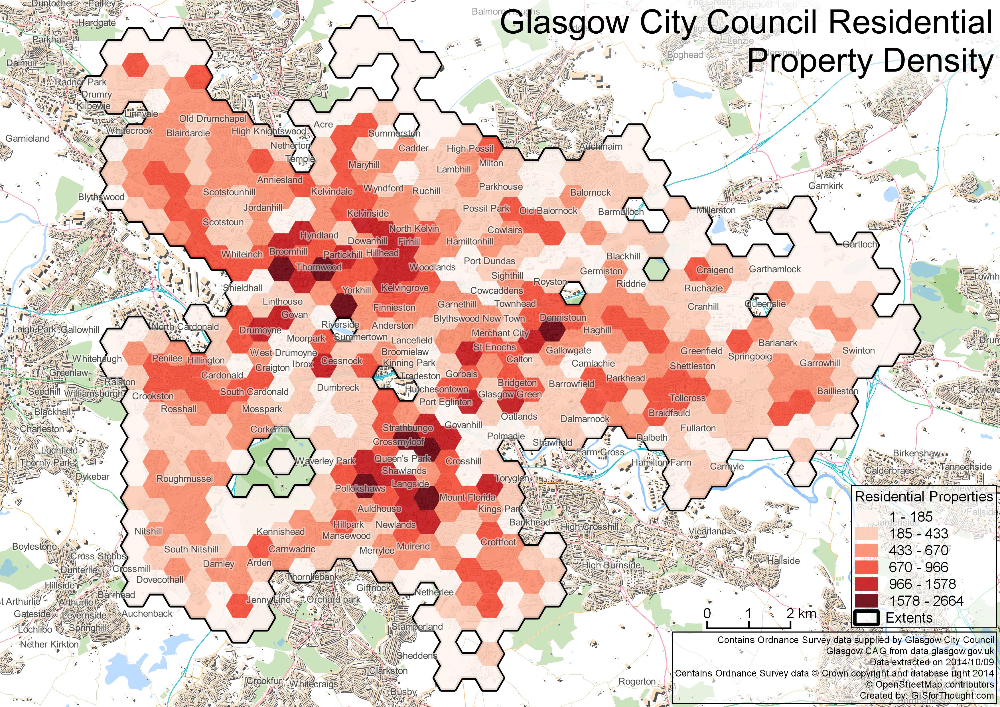 Glasgow Residential Density