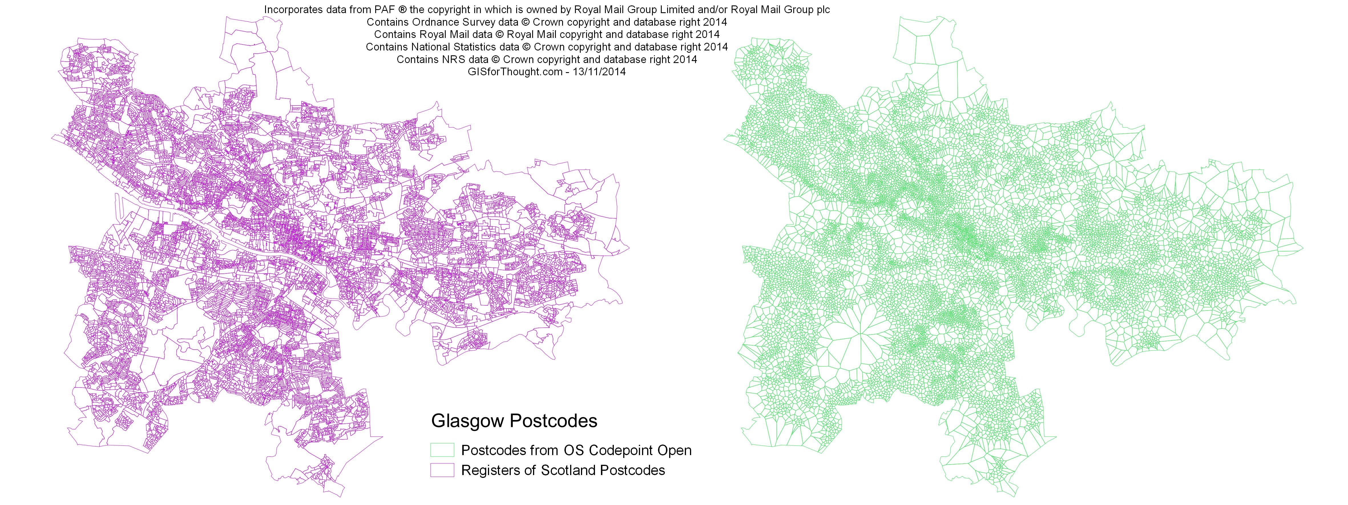 Glasgow Postcodes