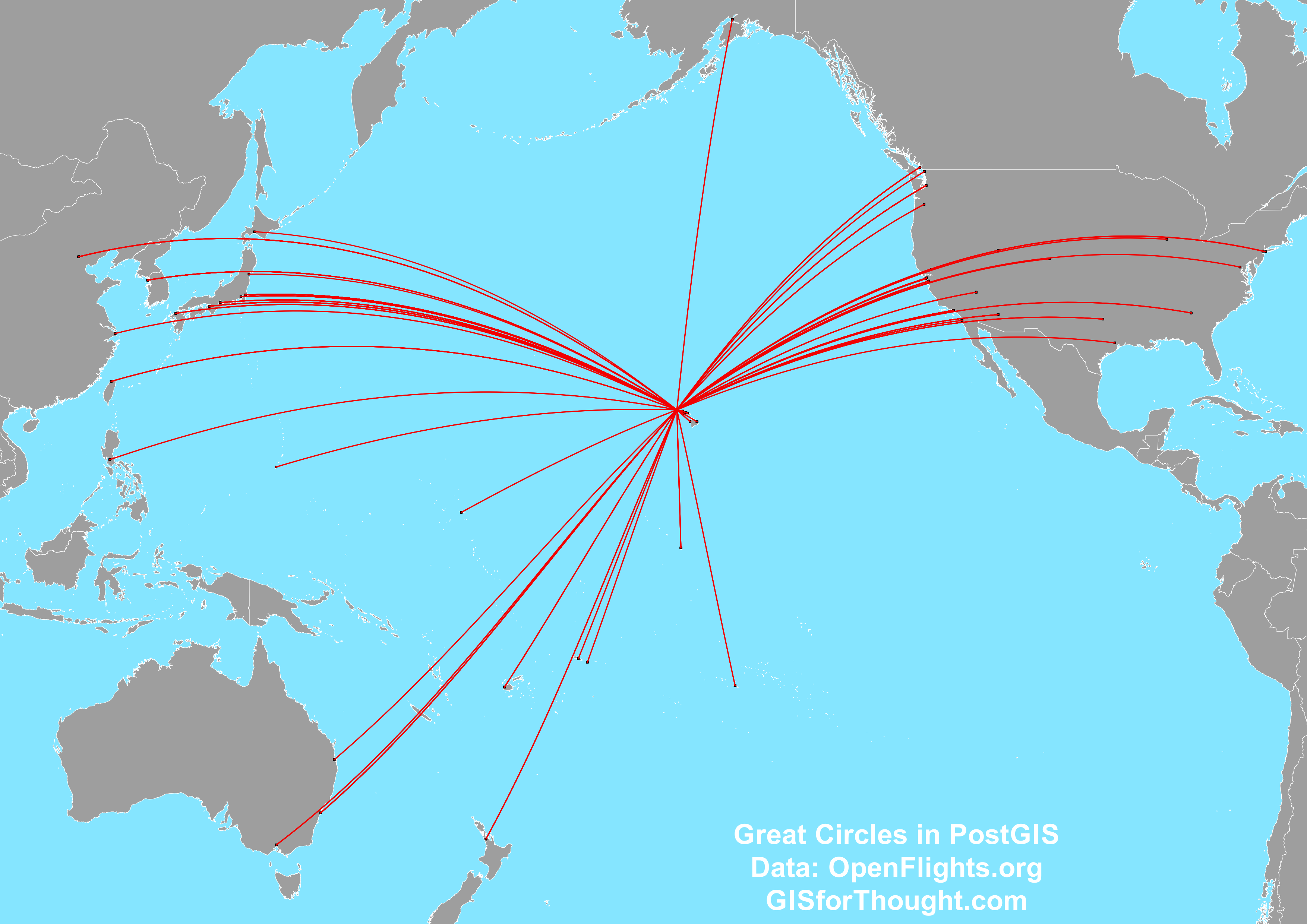 PostGIS Great Circles